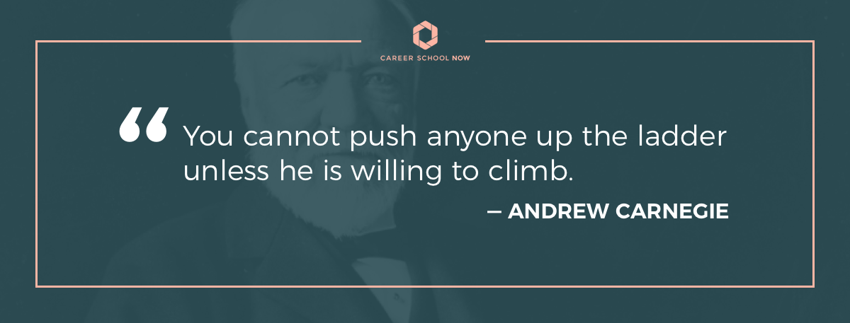 Andrew Carnegie quote--Get into human resource management