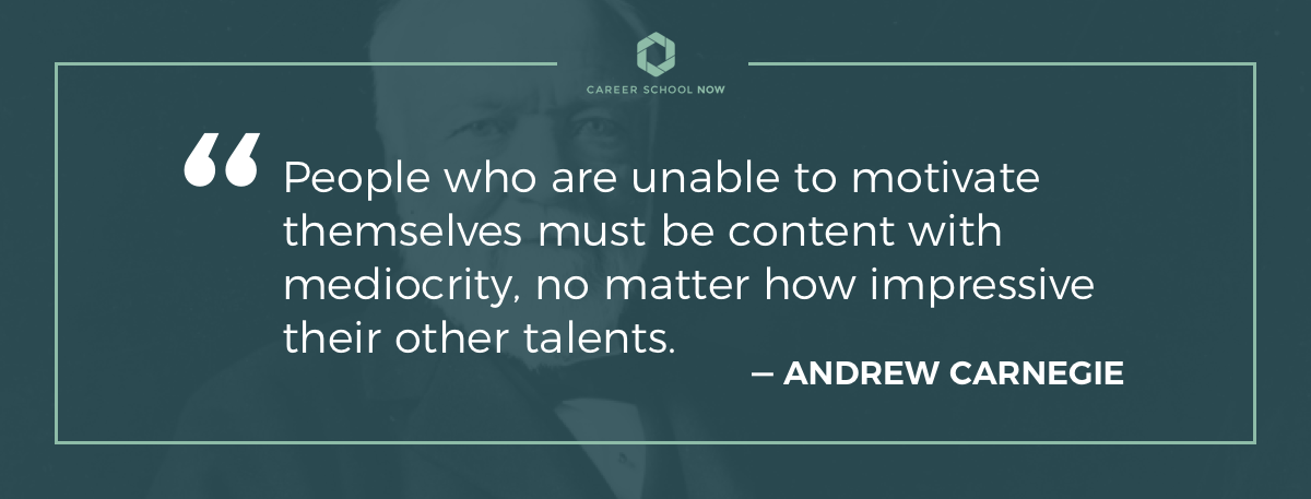 Andrew Carnegie quote on article about becoming a restaurant manager