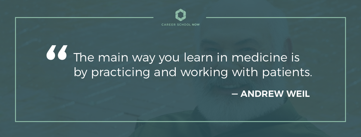 Andrew Weil quote on article how to become an xray technician