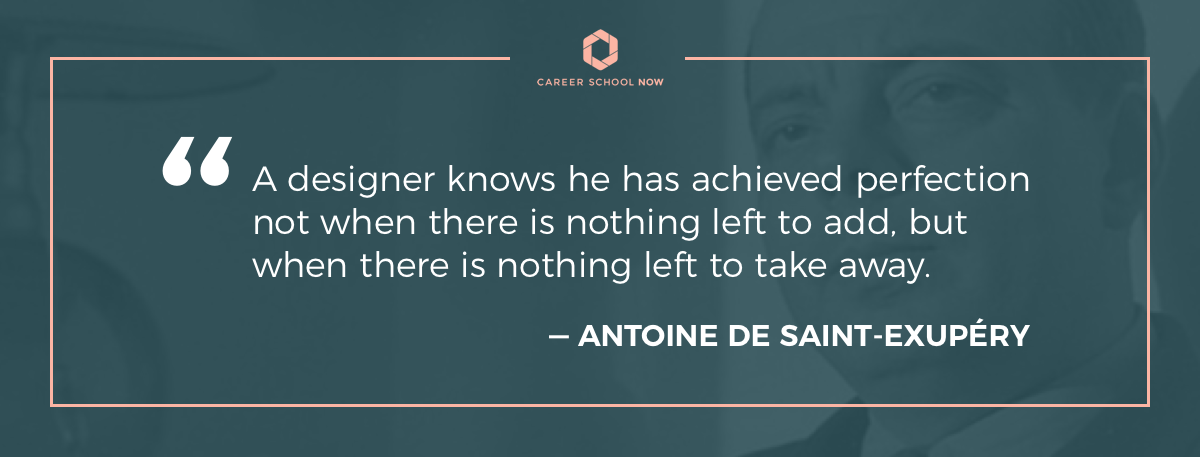 Antoine de Saint-Exupéry quote on article about how to start a career in graphic design