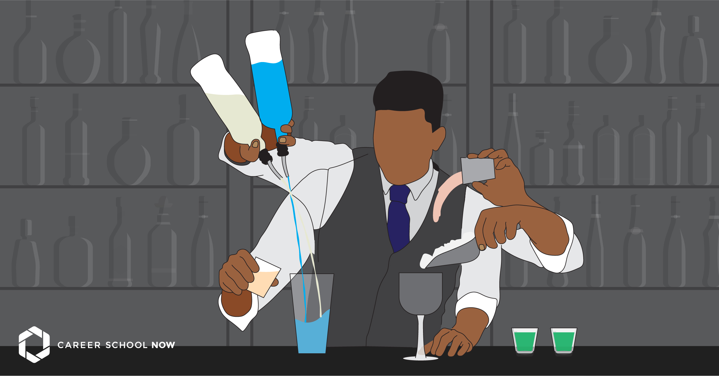 How to become a bartender--career and training information 2019