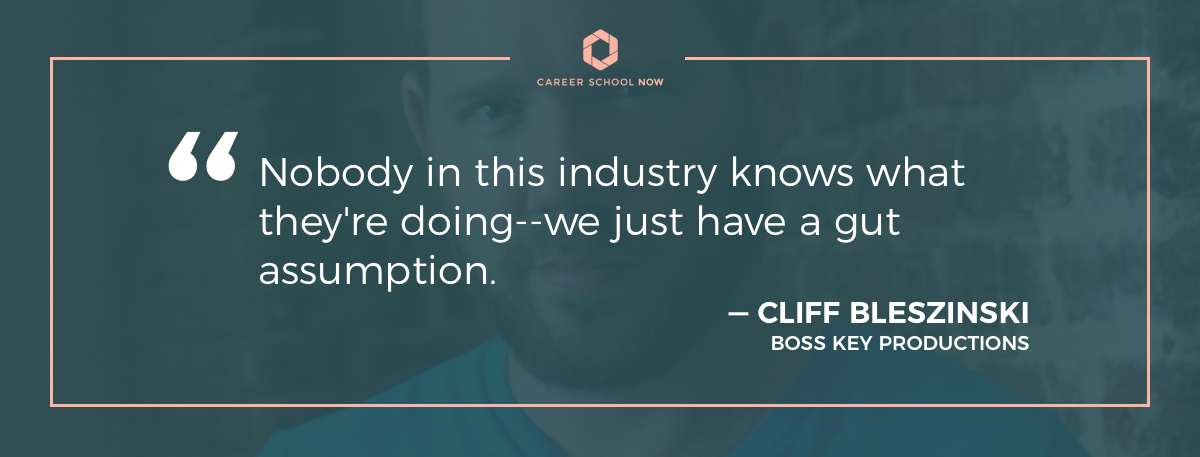cliff bleszinski quote for an article about how to become a video game designer