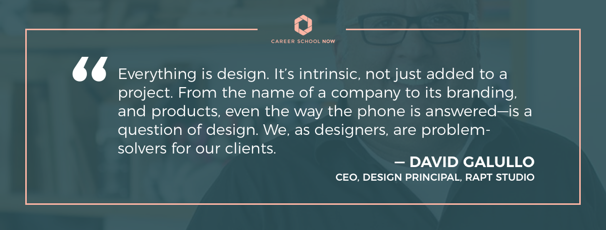 david galullo quote-how to become an interior designer