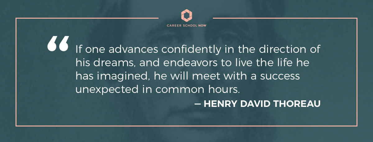 Henry David Thoreau quote on how to become a medical assistant information article
