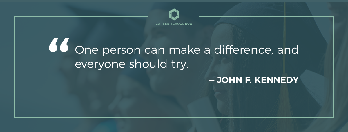 John F. Kennedy quote--become a social worker article