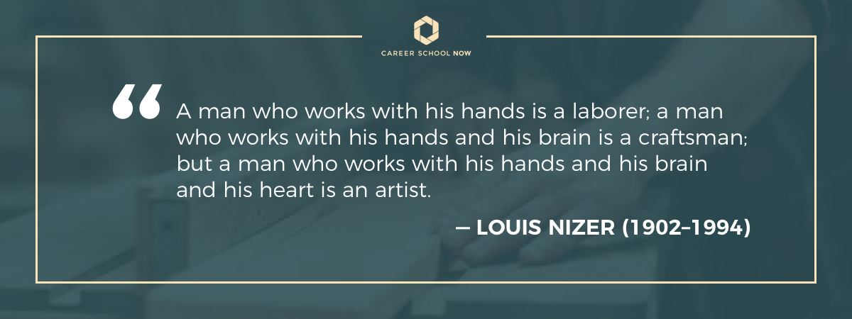 Louis Nizer quote on carpenter careers
