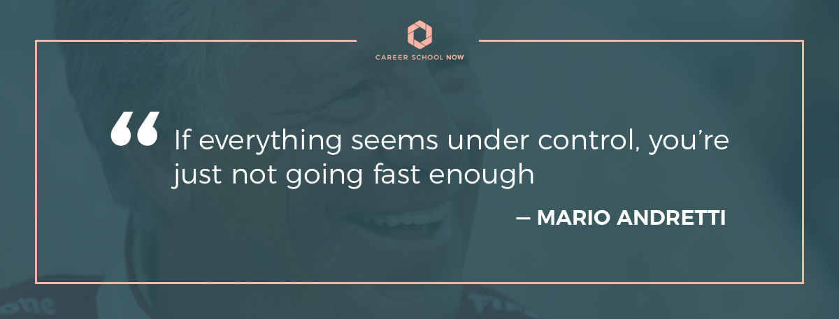 Mario Andretti quote-Become a medical biller or coder