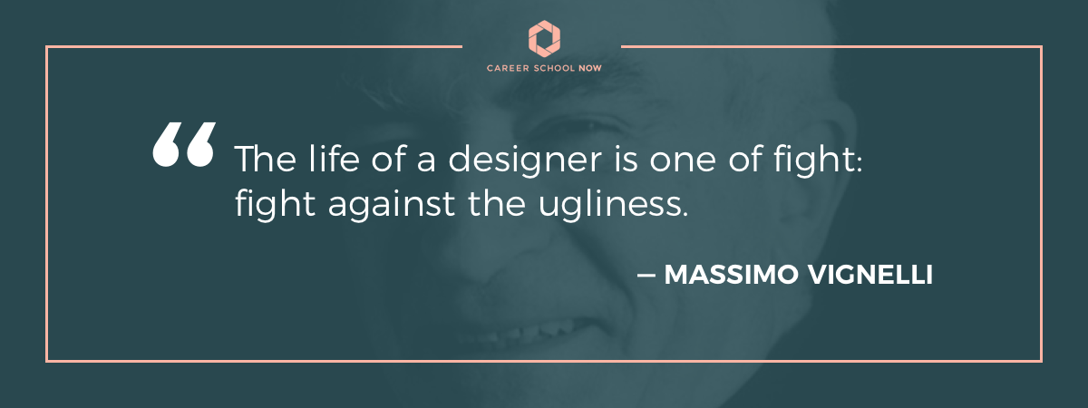 Massimo Vignelli quote-How to become an architect