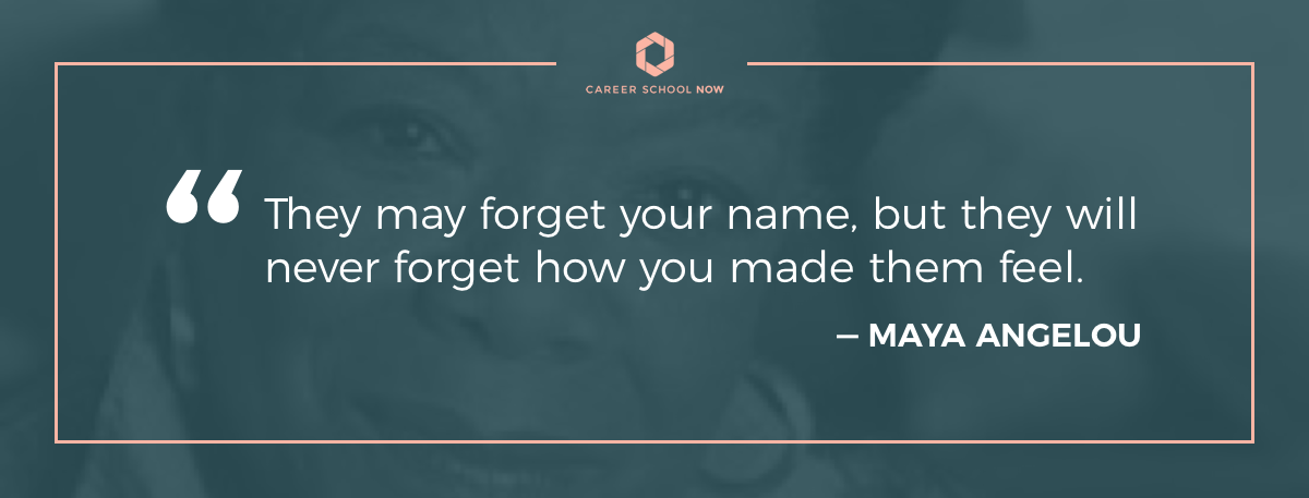 Maya Angelou quote-become a medical assistant career information article