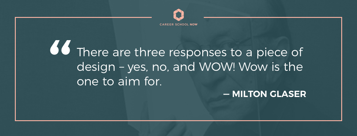 Milton Glaser quote-how to become a web designer article