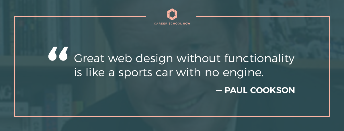 Paul Cookson quote-Article about becoming a web designer