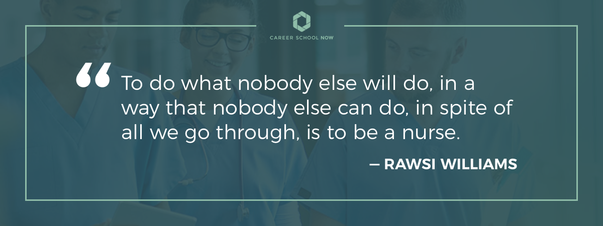 Rawsi Williams quote on article about how to become a CNA