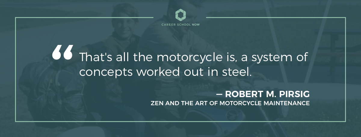 Robert Pirsig quote-become a motorcycle mechanic career guide