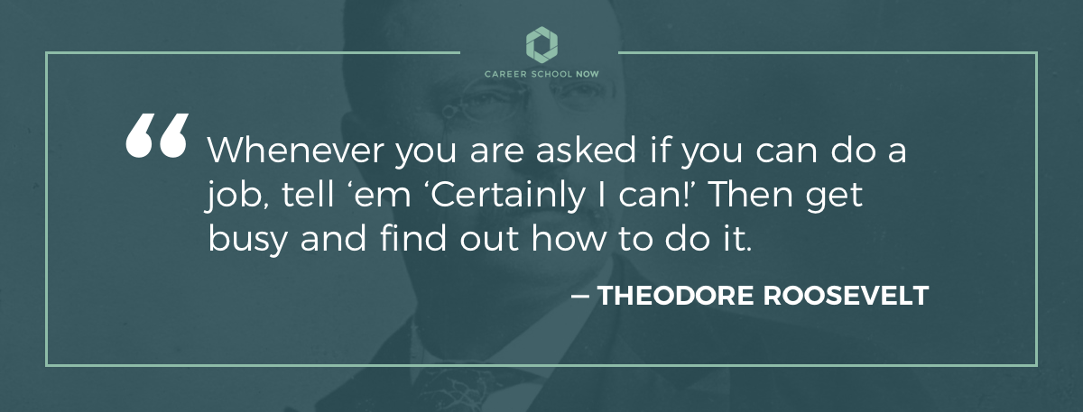 Theodore Roosevelt quote on article about hotel manager career information