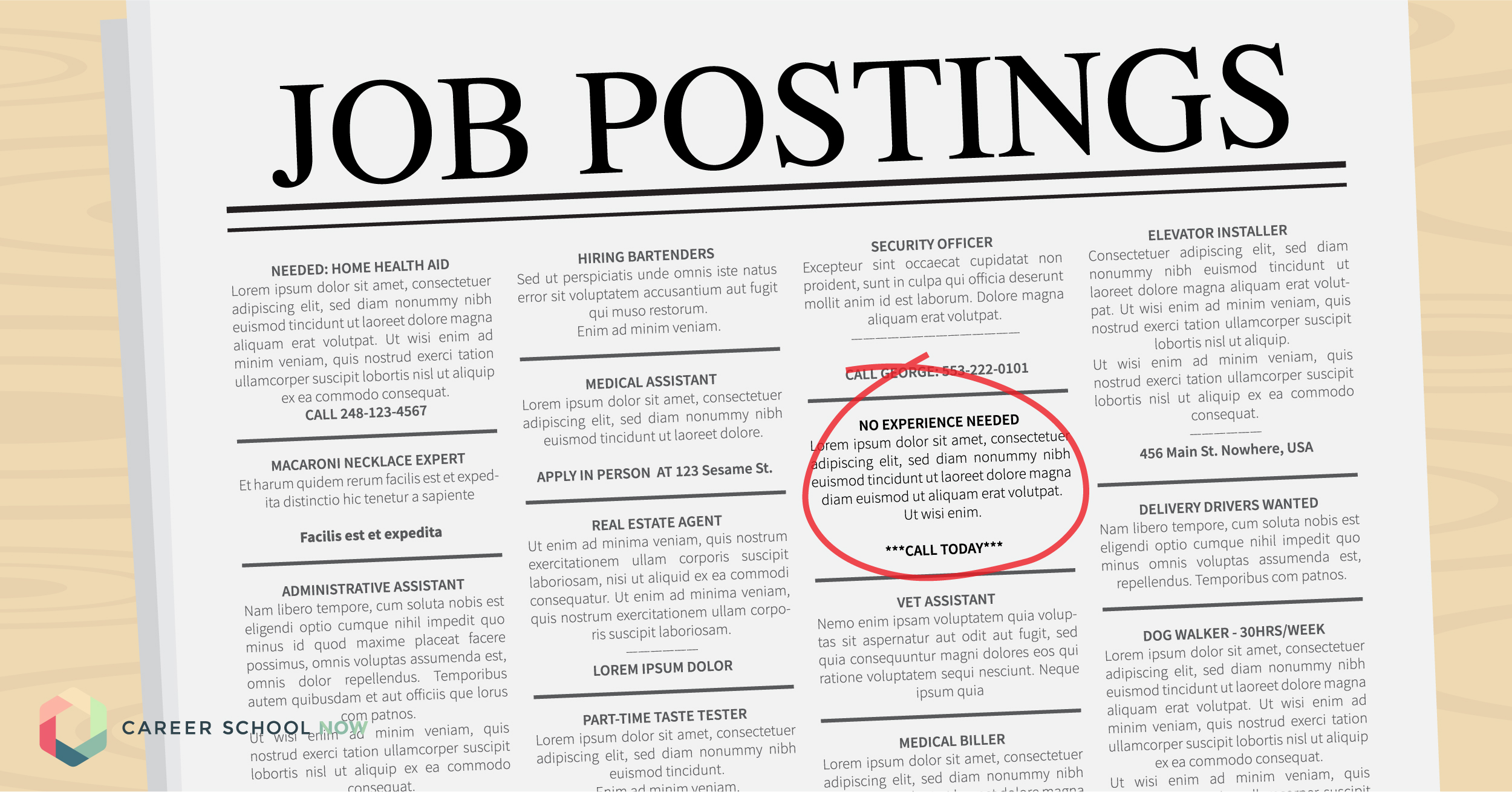 how to find a job when you don't have a lot of experience
