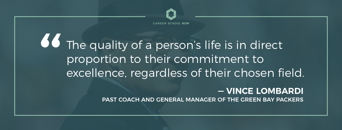 Vince Lombardi quote on article how to become a paralegal