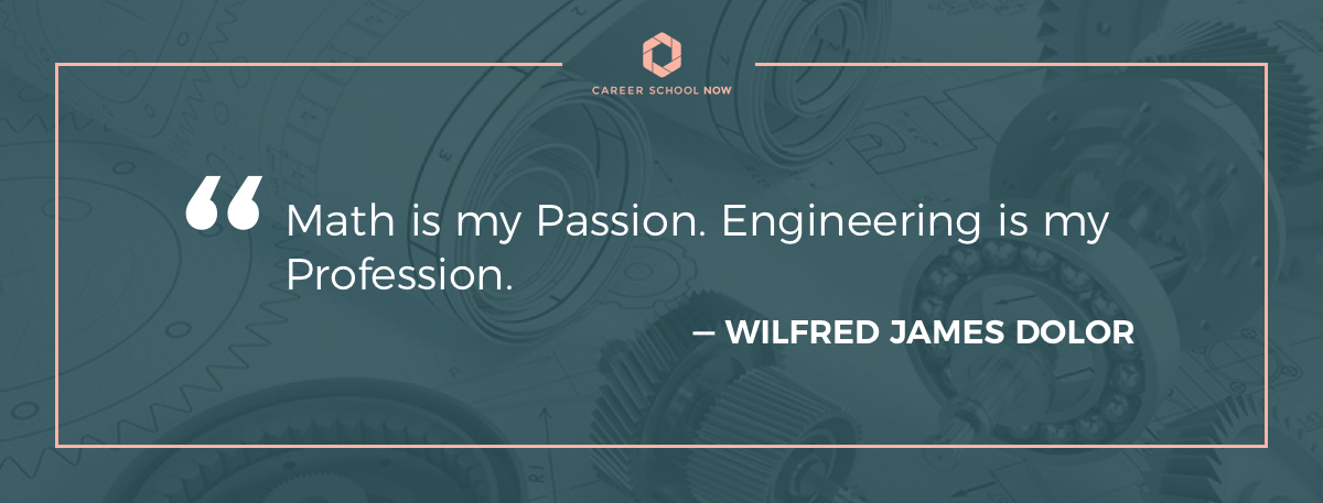 Wilfred James Dolor quote-Become a mechanical engineer article